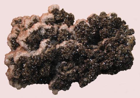 Calcite on Descloizite, Tiger, Pinal Co., AZ
