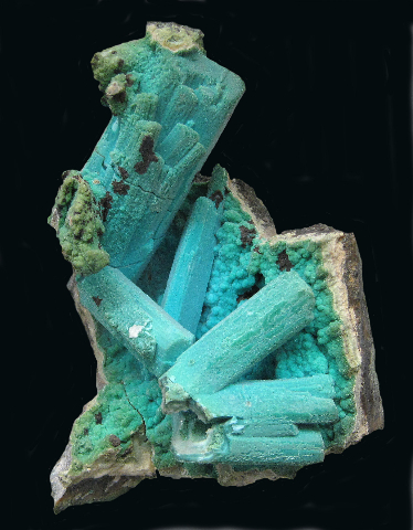 Chrysocolla after Gypsum, Ray Mine, Pinal Co., AZ