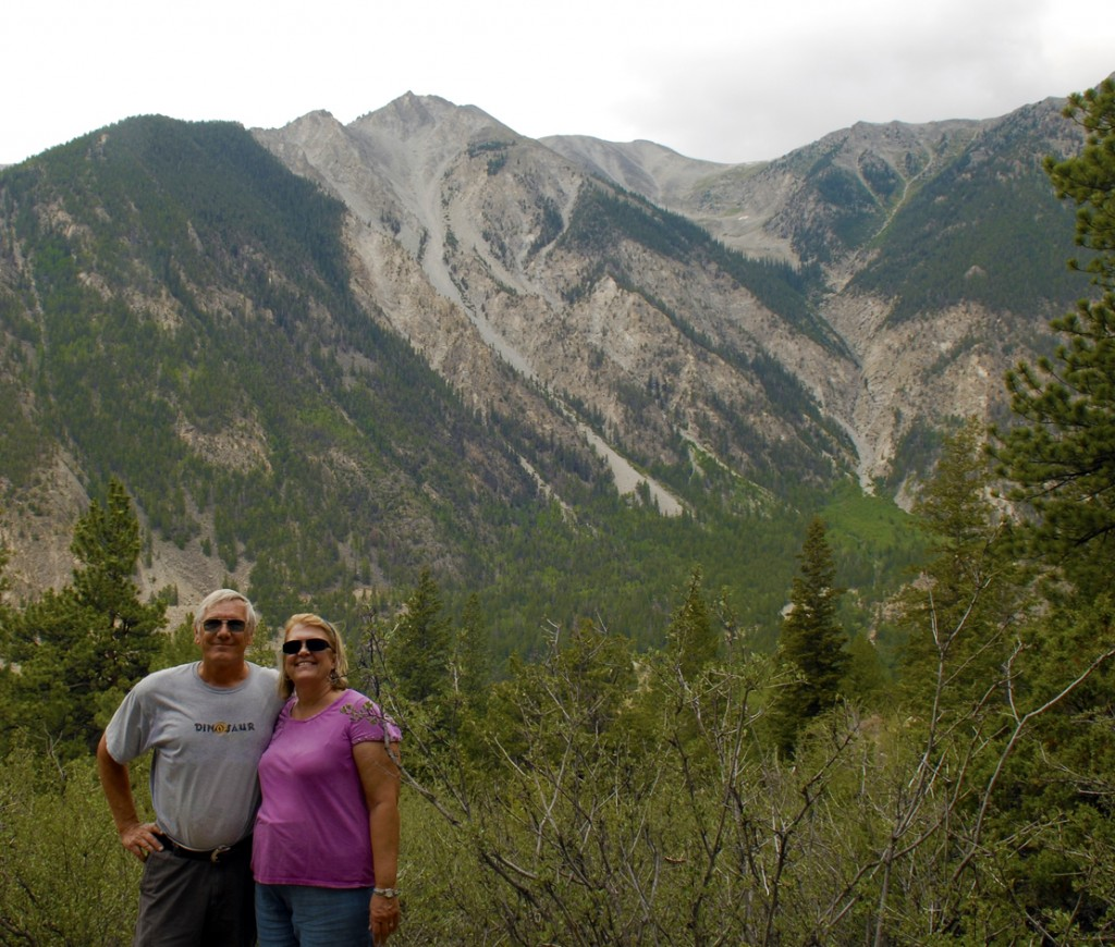 Sue & Stan at Agnes Vaille Falls, CO, July 2012