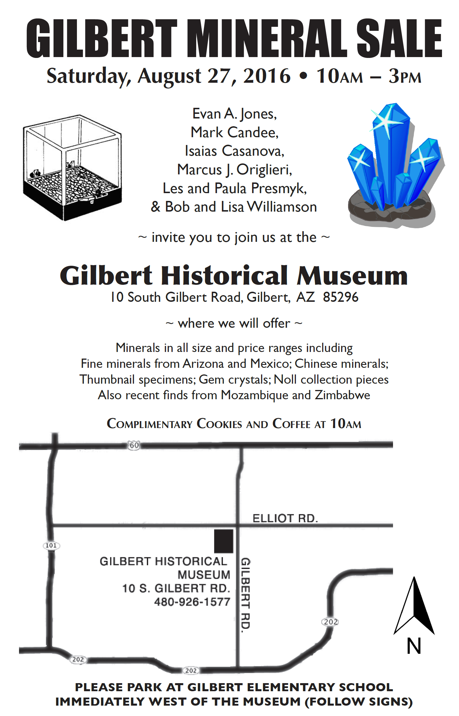 8th Annual Gilbert Mineral Show @ Gilbert Historical Society Museum | Gilbert | Arizona | United States