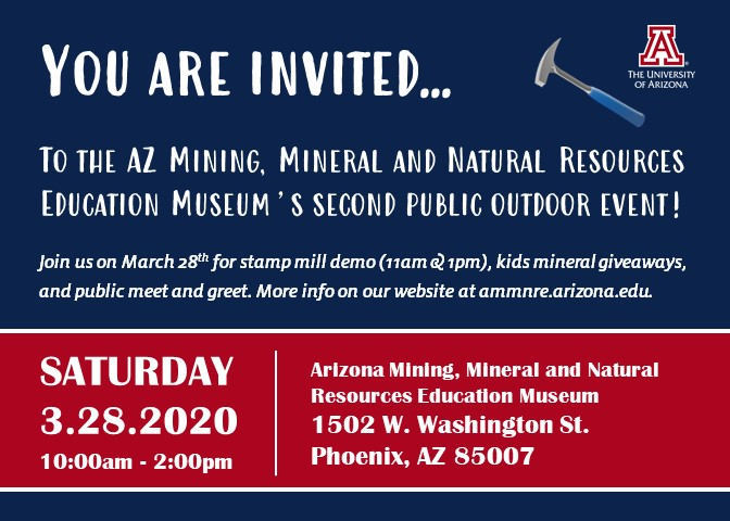 AMMNRE Museum Second Public Outdoor Event @ Arizona Mining, Mineral and Natural Resources Education Museum
